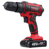 48VF Cordless Electric Impact Drill Rechargeable Drill Screwdriver W/ 1 or 2 Li-ion Battery