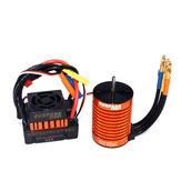 Surpass Hobby Impermeabile F540 3300KV senza spazzola Rc Auto Motor + 45A ESC Combo Set per 1/10 Rc Auto