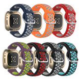 Bakeey Dual Color Silicone Watch Band για Fitbit Versa 3 Sense Smart Watch