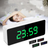 Espejo digital LED Pantalla Alarma Reloj Snooze Desk Reloj Calendario de temperatura