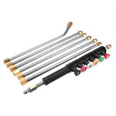 7PC 1/4 Inch High Pressure Washer Extension Spray Wand Lance with 6PC Nozzle and 10PC O-ring