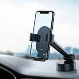 Baseus Universal 360 Degree Rotating Gravity Linkage Auto Lock with Telescopic Arm Car Dashboard Windshield Suction Cup Mount Holder for 4.7-6.5 inch Phone for iphone Smartphone