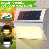 Solar Powered LED Fence Wall Light Outdoor Garden Lighting Step Shed Path Lamp