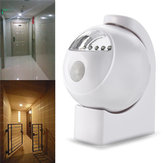 Wireless 5 LED PIR Motion Sensor Light Control Battery Powered Night Light Wall Cabinet Lamp