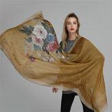 Damen Satin Druck atmungsaktiv Outdoor leichte Schal