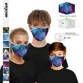 Einstellbare Ohrenschützer Staubdichte Maske Antibeschlag Kind Erwachsene Mit 2PC Filterdichtung