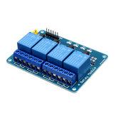 5 pièces 5V Module de relais 4 canaux PIC ARM DSP AVR MSP430 bleu Geekcreit pour Arduino - produits compatibles avec les cartes officielles Arduino