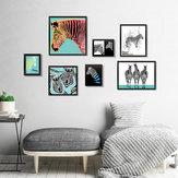 Miico Seven-dimensional Stereo Photo Frame Art Zebra Wall Sticker