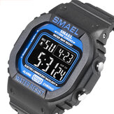 SMAEL 1801 Luminous 5ATM Warna Murni Tahan Air Tali Tanggal Tanggal Tampilan Colorful Digital Watch