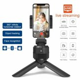 Smartphone Tripod Gimbal 360 Degree Rotation Auto Tracking Shooting Holder Selfie Vlog Live Streaming Broadcaset Bluetooth Compatible with IOS and Android Phone