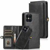 Bakeey for iPhone 12 Pro Etui Max 2-w-1 Odpinana klapka magnetyczna z portfelem na wiele kart Portfel ze skóry PU Pro