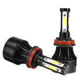4-Side COB LED Araba Farlar 9005/9006/H11 Hi-Low Beam Sis Farı Ampul 6000K 120W 2 Adet