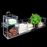 2/3/4/5/6 Grids Aquarium Fish Tank Pond Filtro Externo Caixa Conjunto Acrílico