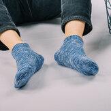 Hombres vendimia Algodón calcetines Estilo étnico No-show calcetines