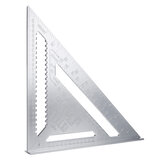 12 Inch Triangle Ruler Aluminum Alloy 30cm Woodworking Multi-function Angle Ruler