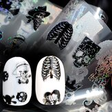 Dancingnail Nail Sticker Halloween Skull Head Punk Style Zombie Design