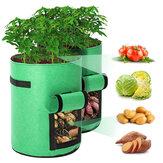 2 Pacote Potes de Tecido Bolsa de 10 galões para plantio Sacos de pano respirável premium para recipiente de planta de batata