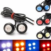 2 STKS 3 W LED Eagle Eye Lights Dagrijverlichting DRL Lamp Back-up Omkeren Lamp 12V Wit voor Auto Motor