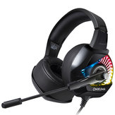ONIKUMA K6 Gaming Headset Noise Reduction Stereo RGB Light Headphone 50mm Unit Bass Headset