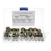 50Pcs M4 to M10 Zinc Alloy Wood Furniture Hex Socket Drive Threaded Insert Nut Assortment Kit