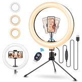 ELEGIANT EGL-02S 10 Zoll 3 Farbmodi Dimmbar LED Ring Full Light Stativ Stand Live Selfie Halter mit Fernbedienung für YouTube Tiktok VK Vlog Makeup