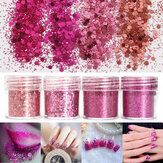 Super Shining Mixed Glitter Powder Sequins Nail Decouation Dust Rose Rouge Mermaid Effet Manicure Orn
