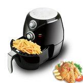 2.8L Black Oilless Electric Air Fryer Baixa gordura Detachable Basket Baking Kitchen