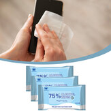 10pcs 75% Alcohol Sterilization Wipes Cleaning Wet Wipes Disposable Wipes for Office Home School Swab