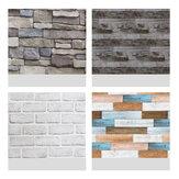 10M Retro Brick Wallpaper Wall Sticker Smooth Waterproof PVC Self-Adhesive Decoration