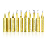 NEWACALOX 10Pcs Lead-free Welding Tips 900M-T Soldering Iron Tip for Rework Soldering Station BGA Tool Kits