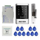 Водонепроницаемы RFID Кнопочная панель управления доступом к дверям Набор с электрической картой Замок и 10 RFID Keyfob Card