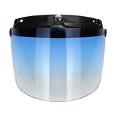 3-Snap Flip Up Open Face casque de moto Visor Shield cinq couleurs