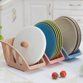 Kitchen Drianing Drainer Plastic Storage Holde Dish Bowls Plate Drying Organizer Rack Shelf Holder