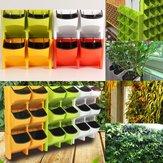 2-kapesní vertikální nástěnné secí stroje samozavlažovací závěsné květináčové zahradní dekorace