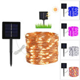 8 modi 10 / 20m 100/200 LED zonne-energie Fairy Lights String Lampen Party Wedding Decor Garden
