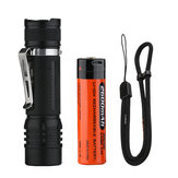 FOLOMOV 18650S 900 Lumens 15 Modes IPX-8 Waterproof 3.9 Inch Length Nicha 219D Led Compact 18650 Tactical Flashlight