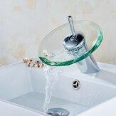 Moderner Stil Küche Badezimmer Gefäß Kupfer Glas Runde Wasserfall Badewanne Waschbecken Wasserhahn Wasserhahn