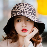 Men Women Cotton Leopard Double-Sided Wear Fisherman Hat