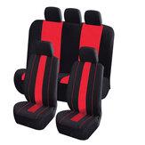 8piezasdetejidodepoliéster Coche Cubierta delantera y trasera del asiento Cojín protector para cinco asientos Coche