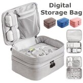 Double Layer Portable Travel USB Digital Cable Organizer Case Storage Carry Bag