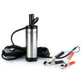 12V Submersible Pump 38mm Water Diesel Transfer Refueling Tool With Clamp