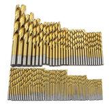 99pcs 1.5mm-10mm Twist Drill Bit Set Titanium coating HSS Twist Drill Bits