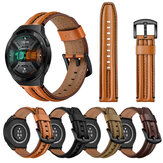 Bakeey 22mm Double Keel First Layer Genuine Leather Strap Smart Watch Band For Huawei Watch GT 2e 46MM