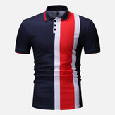 Muskel Fit Color Block Kortærmet Regular Golf Shirt