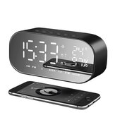 yAyusi S2 Dual Units Wireless bluetooth Speaker LED Display Clock Mirror FM Radio Heavy Bass Speaker