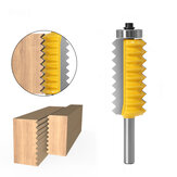 8mm Shank Multi-tooth V Joint Router Bit for Wood Tenon Cone Slotting Cutter Wave Splicing Cutter
