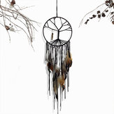 Dream Catcher Handmade Colorful Plume Tenture murale Décorations Ornement Cadeau Carillons éoliens Attrapeur de rêves Plumes Fenêtre Pendaison de voiture Ornement Attrapeur de rêves Décoration
