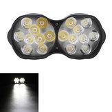 30W 18 LED 9 / 85V 3000Lm 6000K phares de moto en alliage d'aluminium