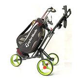 DOMINANT Golf Professional Trolley com três rodas Golf Bolsa Cart Outdoor Sports Golf Pitch Tool Supplies