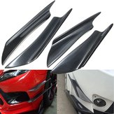 Universal Carbon Fiber Front Bumper Canards Splitters For Honda For AUDI For VW For BMW